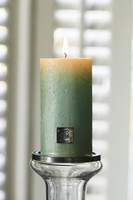Rustic Candle pearl mint 7x13