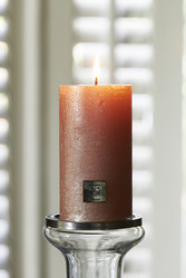 Rustic Candle pearl rose 7x13