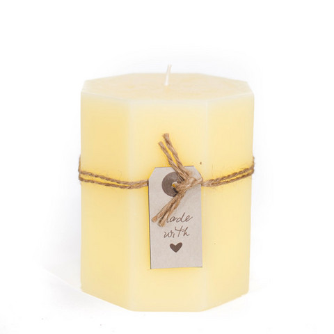 Made with love Candle Yellow 9x10