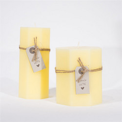 Made with love Candle Yellow 6.4x14