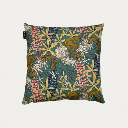 Anastasia cushion cover 50x50 Dark Grey Turquoise