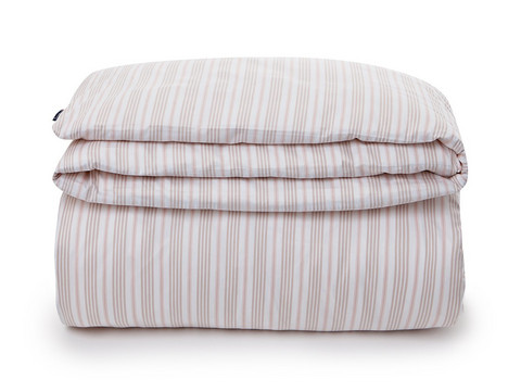 Pink Striped Sateen Duvet