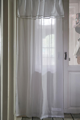 Fancy Frill Curtain white 140x270