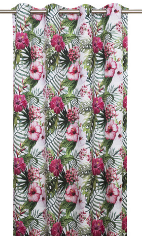 Tropic curtain set 140x240 Rose/Pink