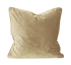 Elise Velvet Cushion Cover Light Gold 45x45