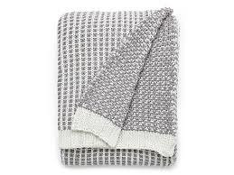 Knitted Throw White/Gray