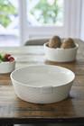 Pure Rattan Ceramic Bowl L