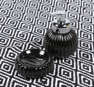 Round Soap Holder Black