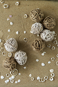 Rustic Rope Decoration Balls 8 pcs