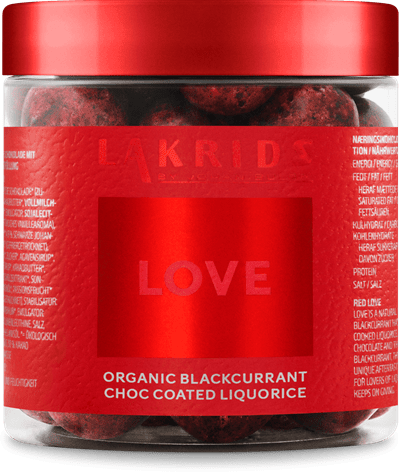 SMALL LOVE ORGANIC BLACKCURRANT CHOC COATED LIQUORICE