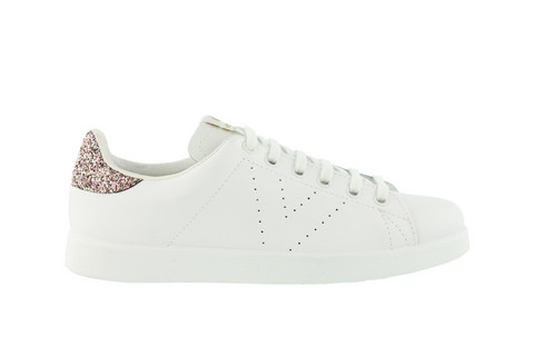 Leather Glitter Sneaker Rose