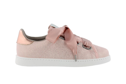 Ribbon Lurex Sneaker Rose