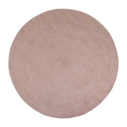 PET Rug round Powder rose