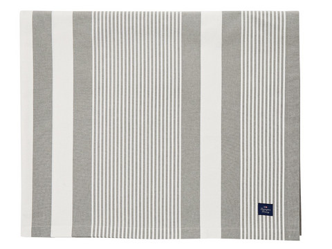 Striped Tablecloth Green-white
