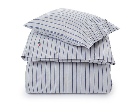 Blue Striped Poplin Set