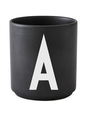 Personal Porcelain Cup black A-Z