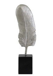 Feather Ornament Silver