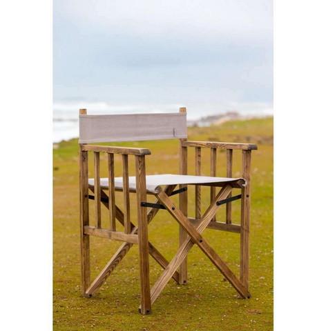 Blixen Directors Chair Grey