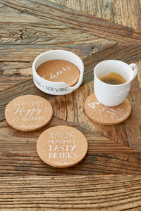 Serving Cork Coasters