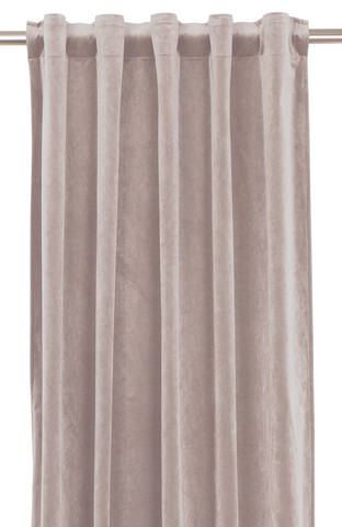 Elise Velvet curtain set Light rose 135x280