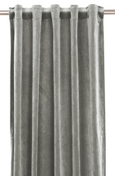 Elise Velvet curtain set Silver 135x280