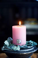 Rustic Candle raspberry 7x10