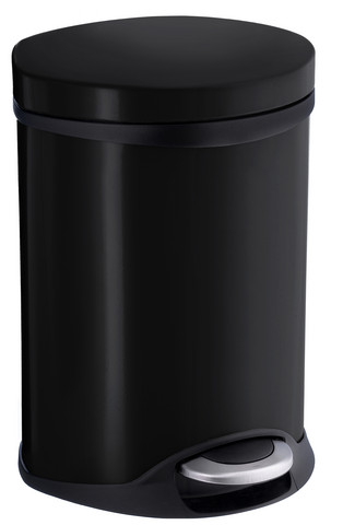 House OUTLINE LITE Trashcan 6L Black