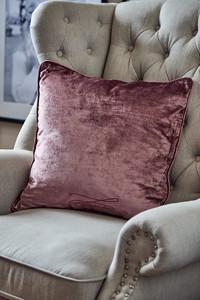 The Powder Parlour Velvet Pillow case pink 50x50