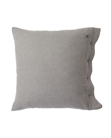 Herringbone Flannel Pillowcase 65x65 Gray