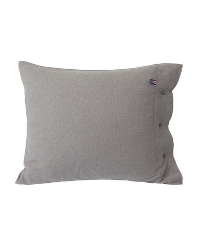Herringbone Flannel Pillowcase 50x60 Gray