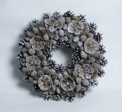 Wreath Silver- grey 36 cm