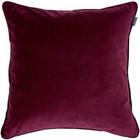 Velvet Cushion 50x50 Purple Fig