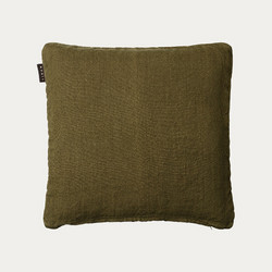 Raw Cushion cover 50x50 Golden Olive Green
