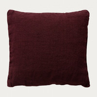 Raw Cushion cover 50x50 Dark Burgundy Red