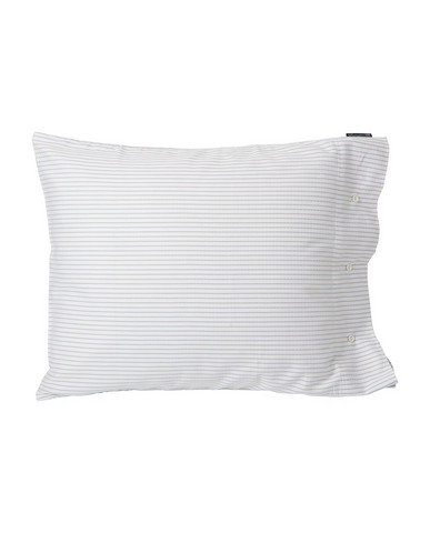 White-Light Gray Tencel Striped Pillowcase 50x60