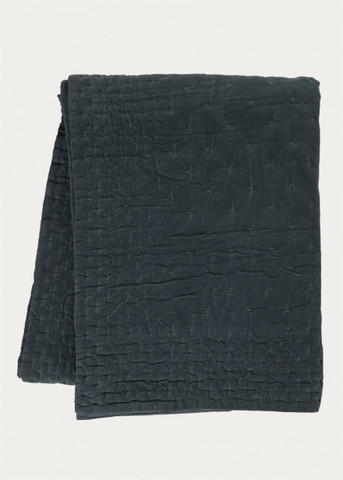 Paolo Bedspread 270x260 Dark Charcoal Grey
