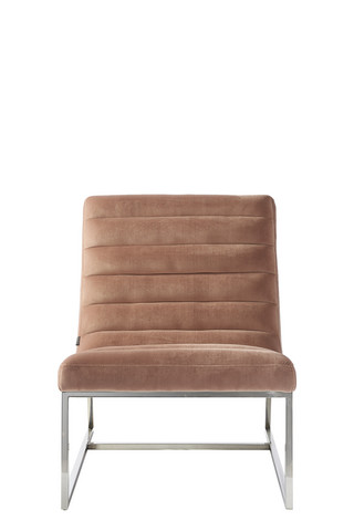 Thompson Lounge Chair Vel Blush
