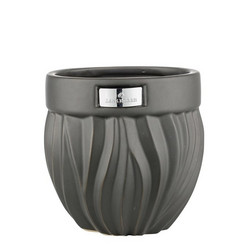 Flamia flower pot black Ø16x16 cm