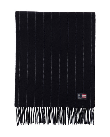 Massachusetts Scarf Dark Blue/White Stripe
