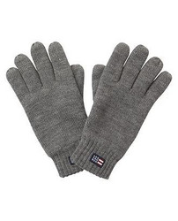 Connecticut Knitted Gloves Heather Gray Melange S/M