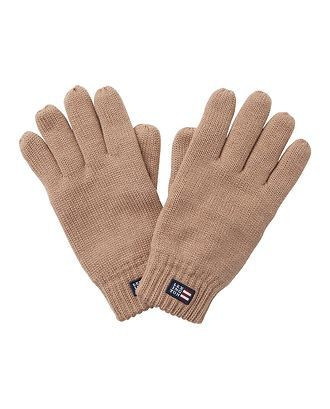 Connecticut Knitted Gloves Warm Sand S/M