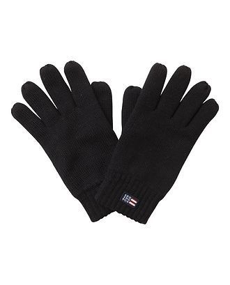 Connecticut Knitted Gloves Caviar Black S/M