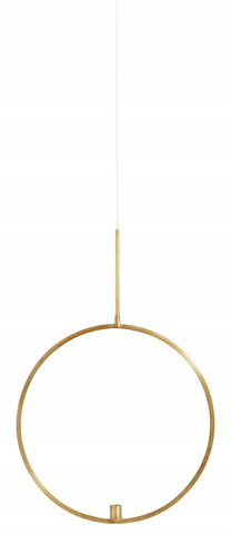 Circle candle holder S Gold