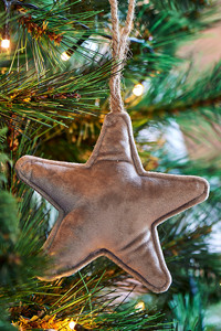 Velvet Star Ornament grey S