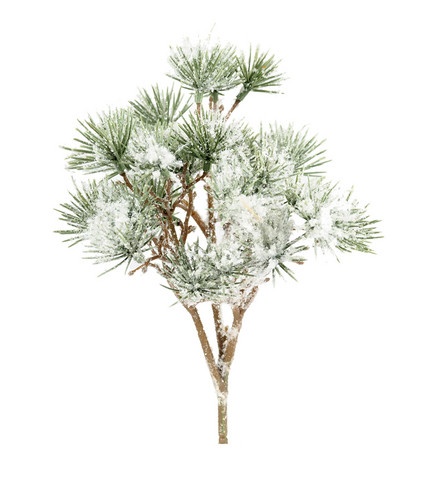 Pine branch bundle with snow 23cm