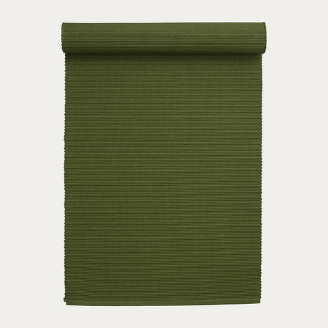 Lind runner 45x150 Dark Olive Green