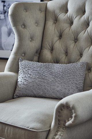 Precious Pearl Pillowcase silver grey 50x30