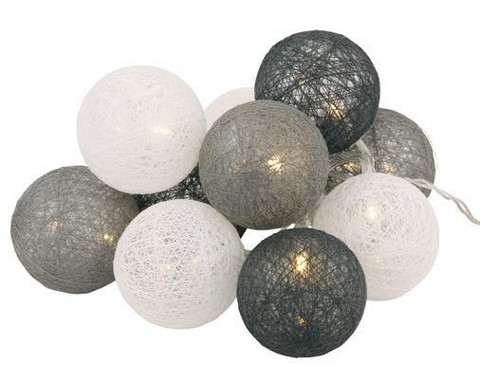 DECORLIGHT LED 10-balls Grey Mix