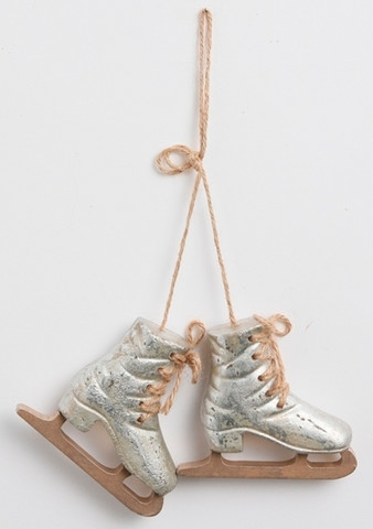 Ice skates 9cm Antique silver