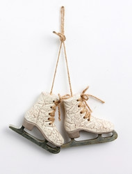 Ice skates 9cm Antique white